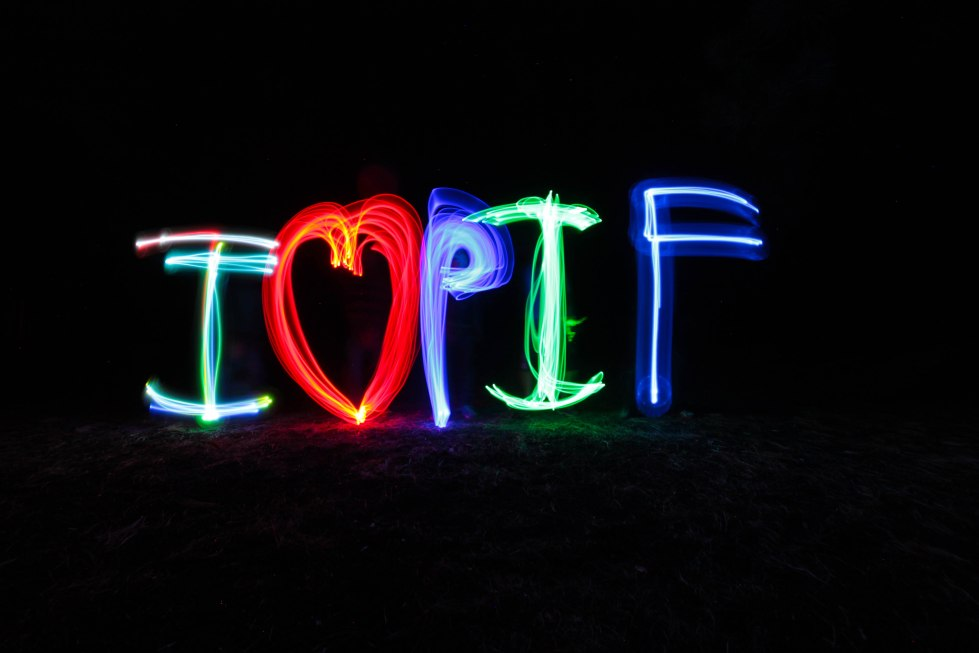 Light painting is one of the many reasons our participants love Parks in Focus.